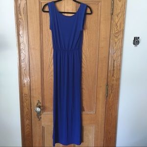 H&M Divided Blue Maxi Dress with Side Slits